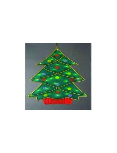 Luces arbol de navidad rbol de navidad abstracto hecho - Luces arbol de navidad ...