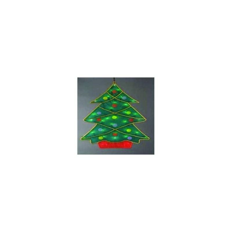 Silueta navidad silueta navide a escena navidad arbol - Luces arbol de navidad ...