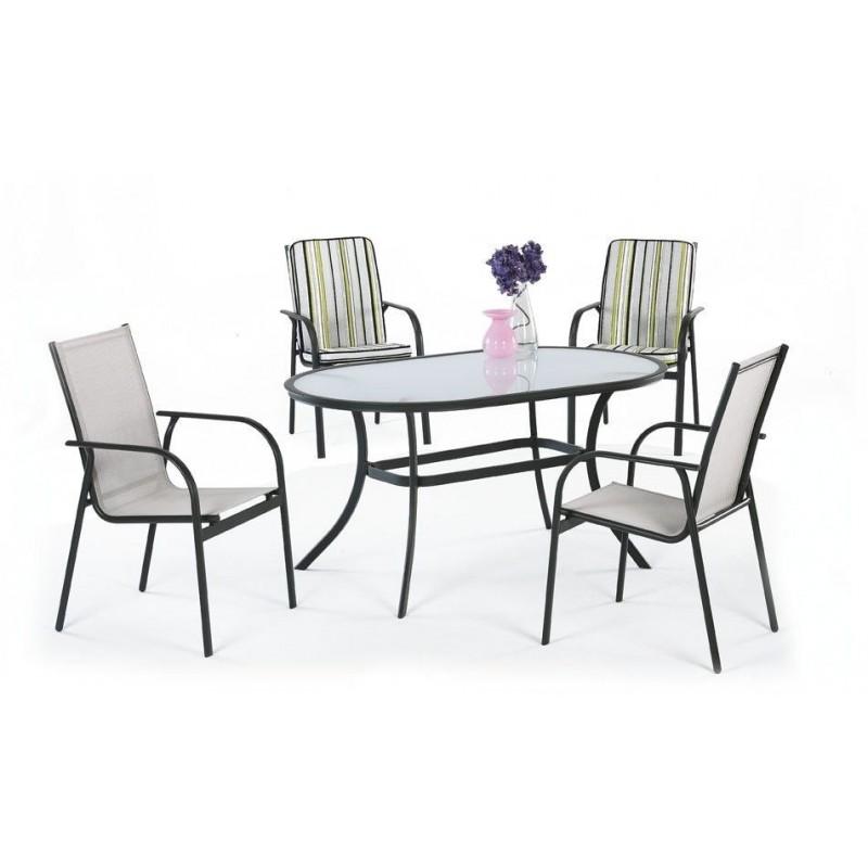 Conjunto jardin comedor jardin reunion jardin muebles for Conjunto mobiliario jardin