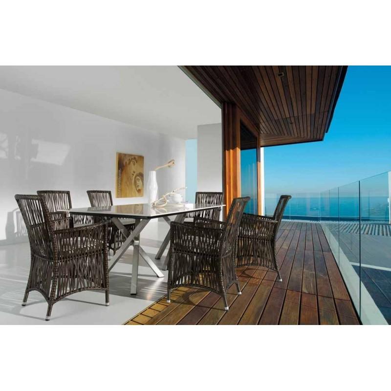 Conjunto jardin conjunto comedor muebles jardin muebles for Conjunto terraza rattan