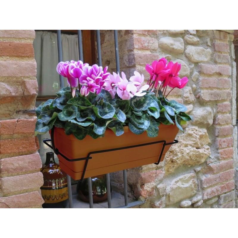floria jardinera balconera con soporte metlico loading zoom