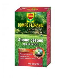 COMPO ABONO CESPED + HERBICIDA 3 KG.