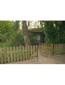 Valla jard n valla madera cerramiento jardin for Vallas decorativas para jardin