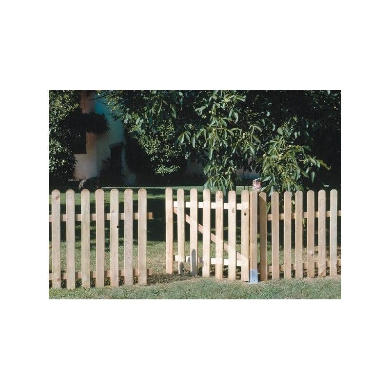 Valla madera exterior barnizar valla de exterior paso for Puerta exterior 120 cm