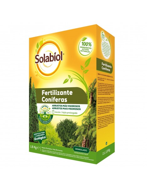 SOLABIOL FERTILIZANTE CONIFERAS 1,5 KG.
