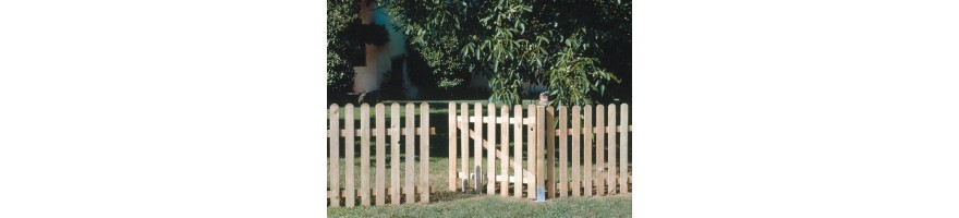Valla jard n valla madera cerramiento jardin for Vallas de pvc para jardin