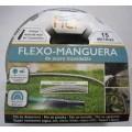 FLEXO-MANGUERA DE ACERO INOXIDABLE 15 METROS CON LANZA DE RIEGO
