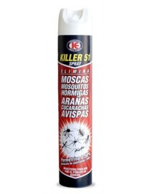 INSECTICIDA KILLER 51 SPRAY 750 ML.