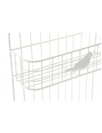 ESTANTERIA PARED METAL PAJARO BLANCO