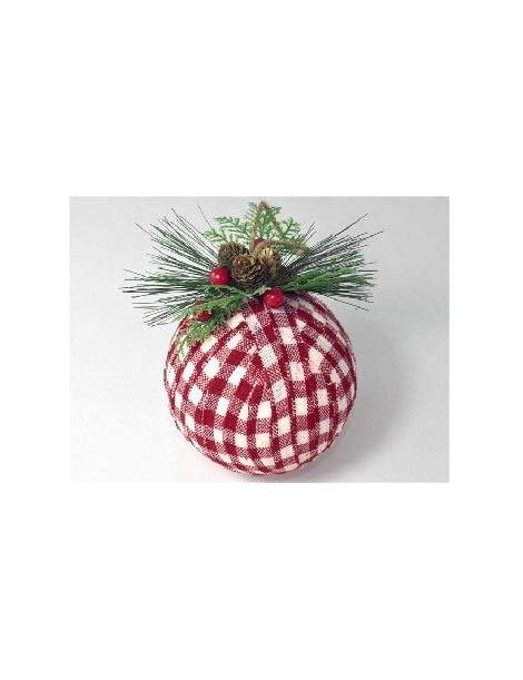 bola navidad bola pi a bola tela bola roja decoracion